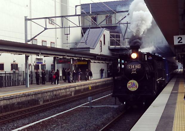 長浜駅でのSL北びわこ号