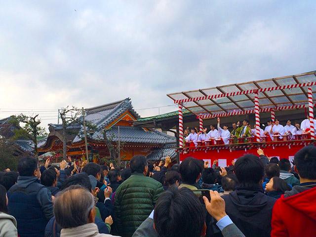 福餅まきのスケジュール(豊国神社境内会場)
