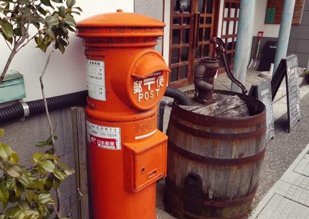 開智学校前の郵便ポスト