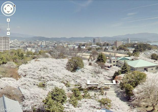 Googleストリートビューで長浜の桜を見る