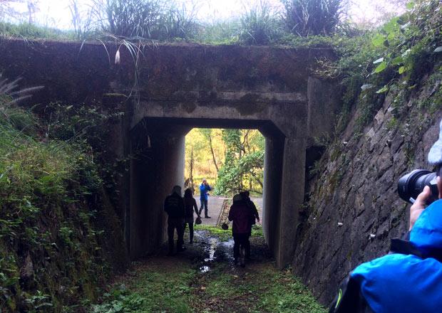 西野水道を琵琶湖側へ抜ける