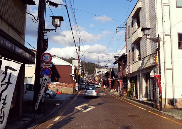 木ノ本駅前から地蔵院を目指す