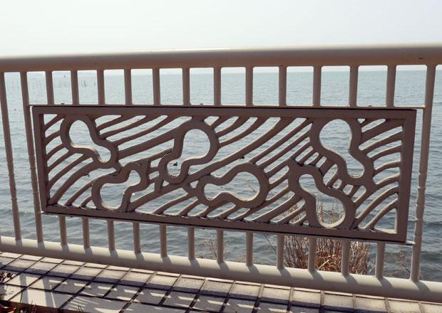 琵琶湖で泳ぐ瓢箪