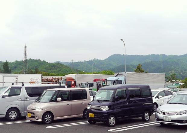 神田のパーキングエリアの駐車場