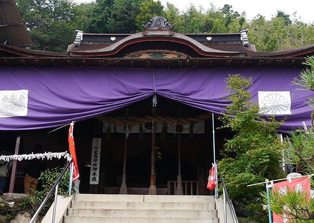 国宝 都久夫須麻神社本殿