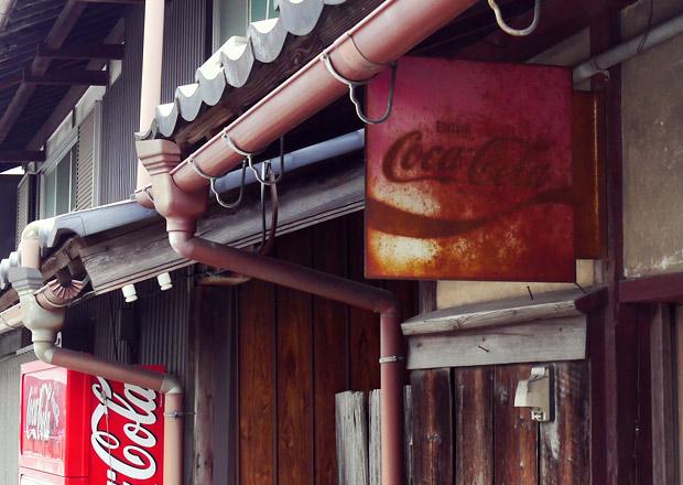 コカコーラのホーロー看板