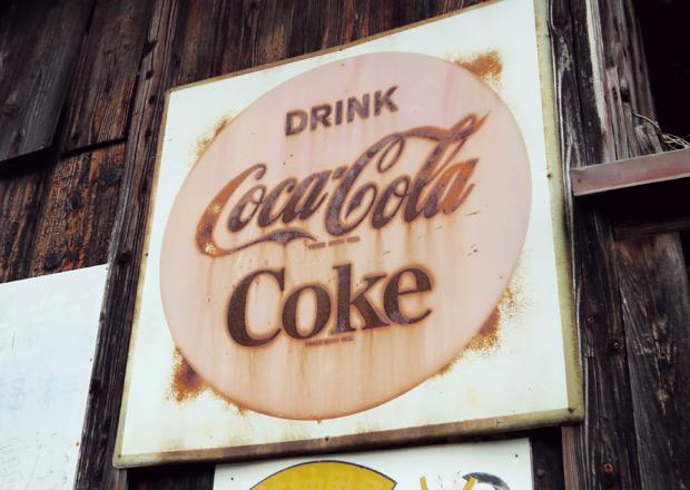 DRINK Cokeの琺瑯看板