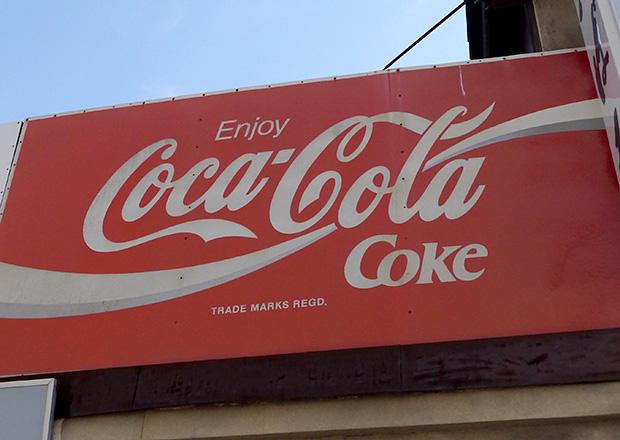 Enjoy! CocaColaの看板
