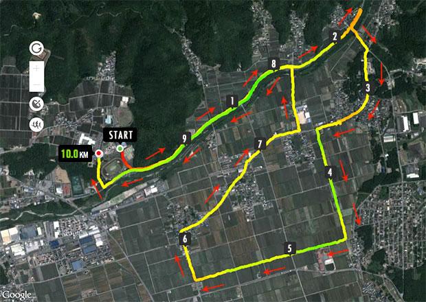 あざいお市マラソン10Kmコース