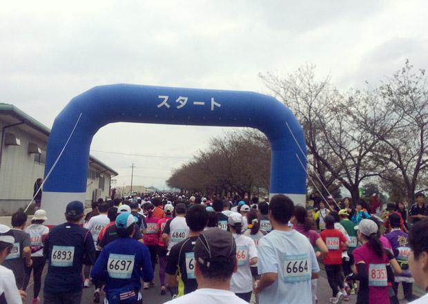 お市マラソンがスタートした。
