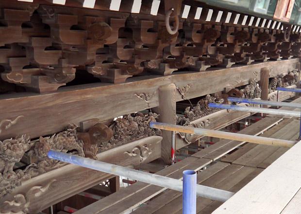 大通寺山門の彫刻