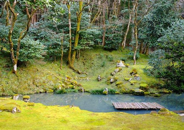 近江孤篷庵の池泉廻遊式庭園