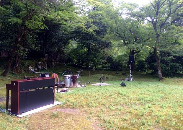 近江孤篷庵の音なりの庭