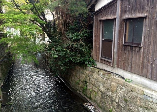 ドアを開けたら川へダイブ