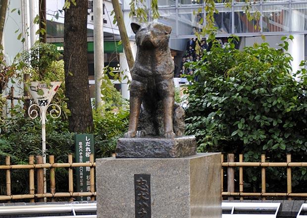 渋谷駅のハチ公像