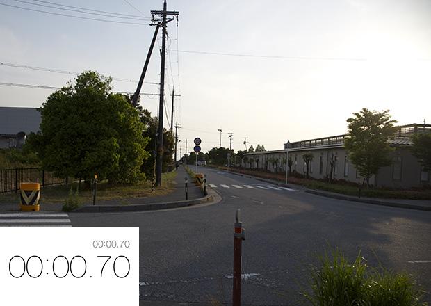 スタート田村駅から計測開始