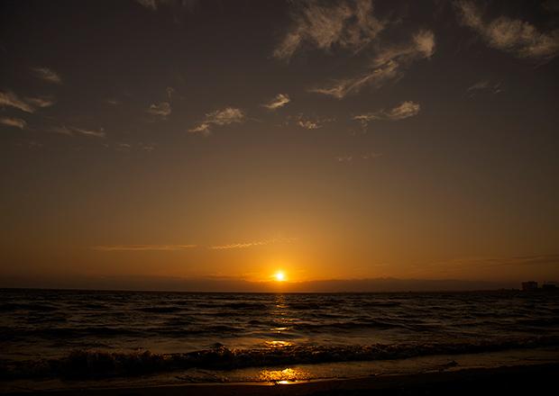 黄昏たい日の夕日