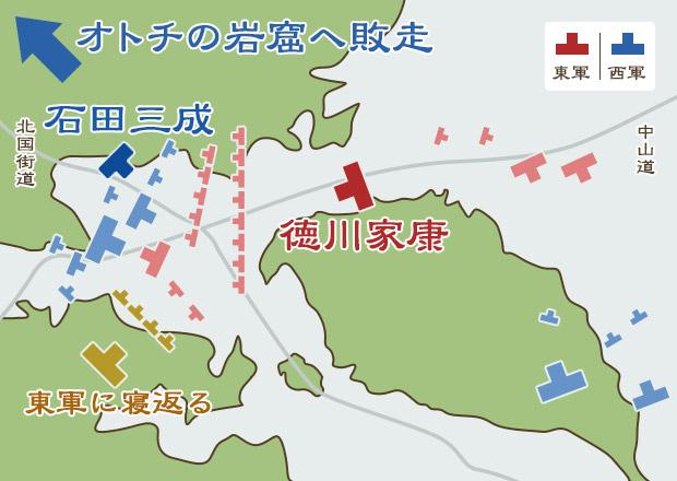 関ヶ原の戦い布陣図