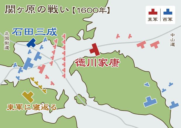 関ヶ原の戦い陣形図