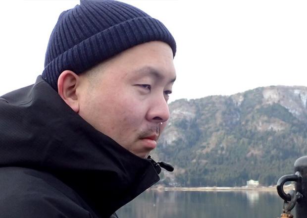 余呉湖が寒すぎて鼻水が垂れる