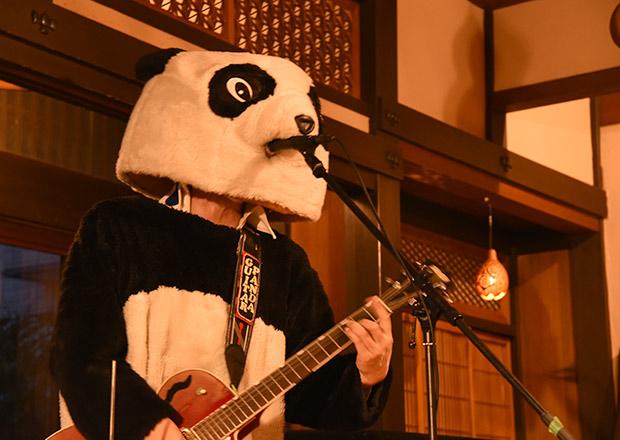 ギターパンダさんが縄でライブ