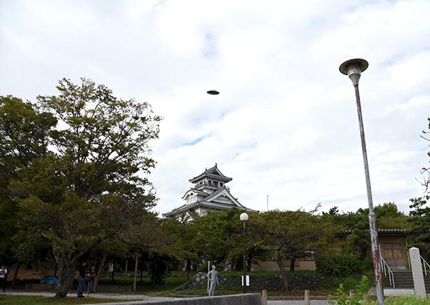 長浜城にもUFOが出現
