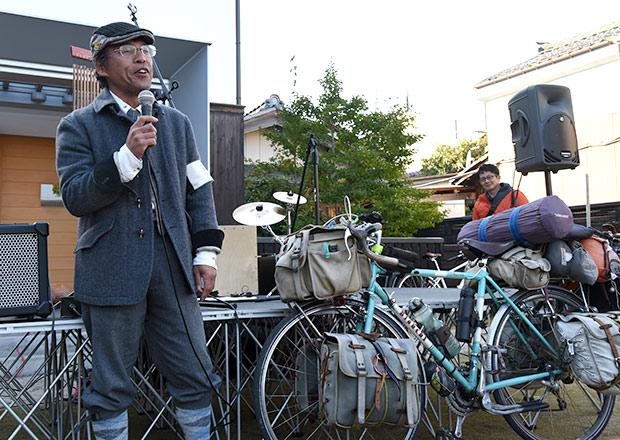 日本一周の途中で立ち寄られた福井さん