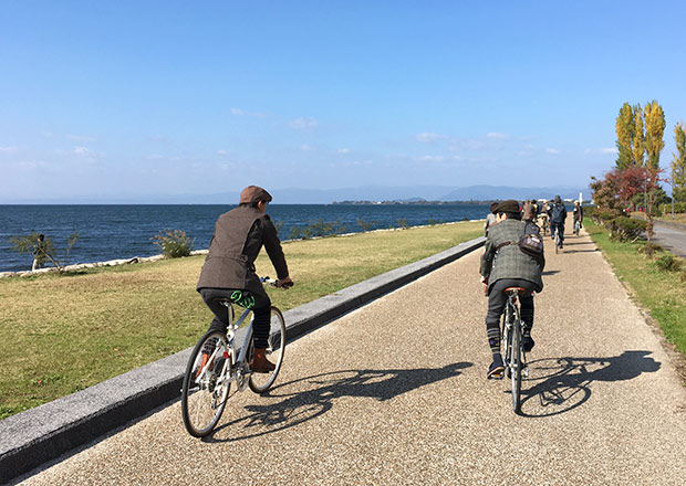 最高の景色を眺めながらサイクリング