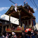 長浜の曳山祭りの様子