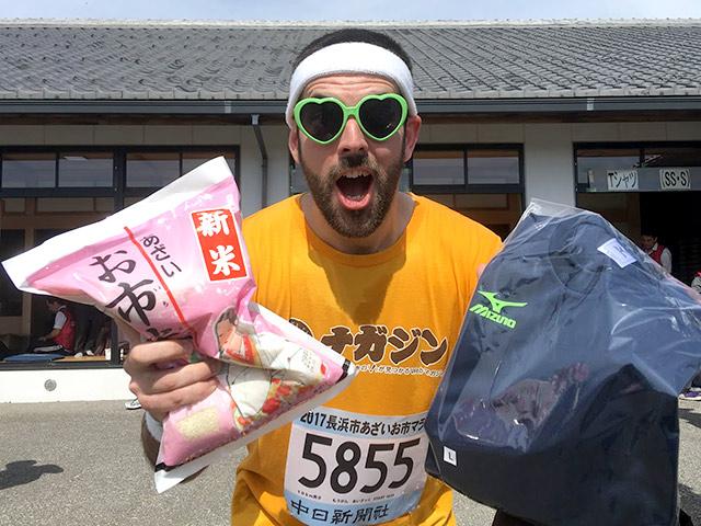 浅井お市マラソンの参加賞が豪華