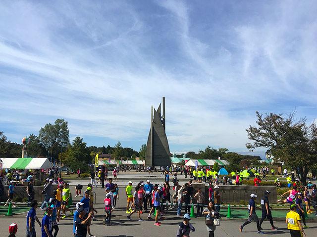 浅井お市マラソンの会場の雰囲気