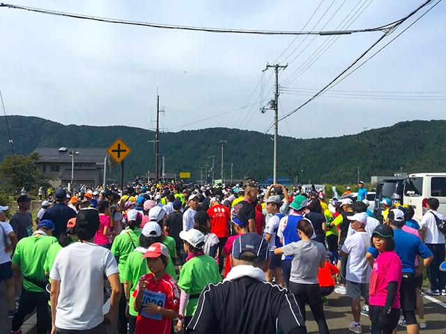 余呉健康マラソンのスタート地点