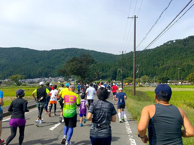 余呉湖を一周6.5kmを走ります