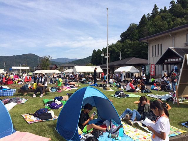 余呉湖健康マラソン会場の雰囲気