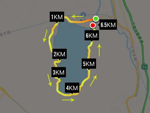 余呉湖健康マラソンのコース
