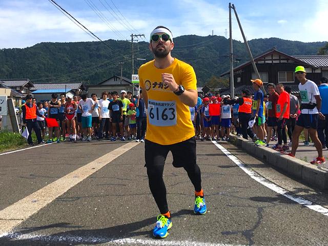 余呉湖健康マラソンにハッピーボーイ参上!