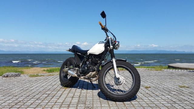 二輪バイク免許をとって買ったTW200