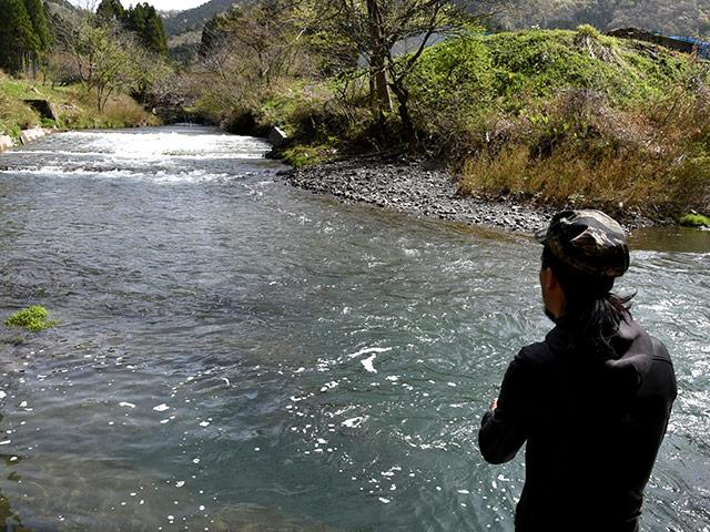 長浜市木之本にある杉野川で渓流釣り