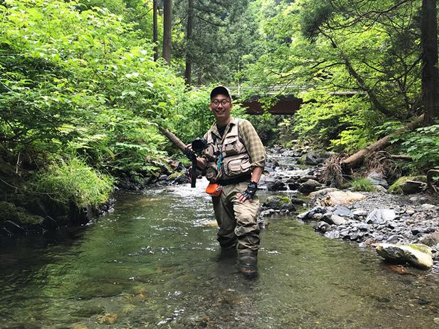 奈良県からベテラン釣り師の林さんが助っ人に駆けつけてくれた