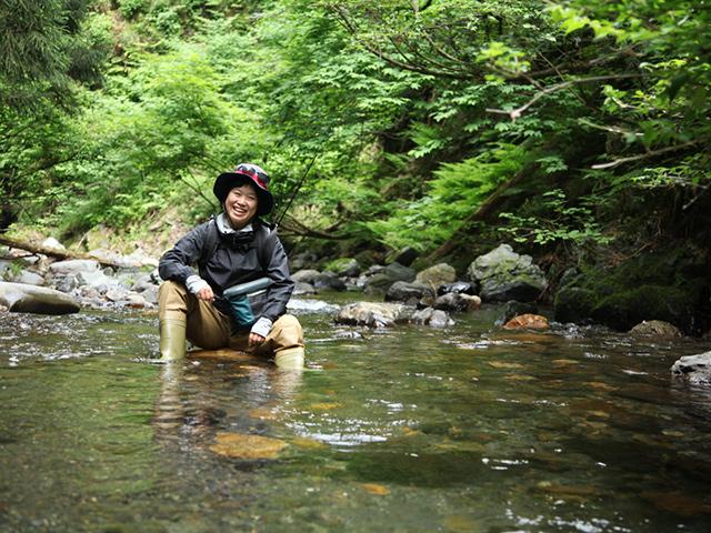 杉野川で渓流釣り