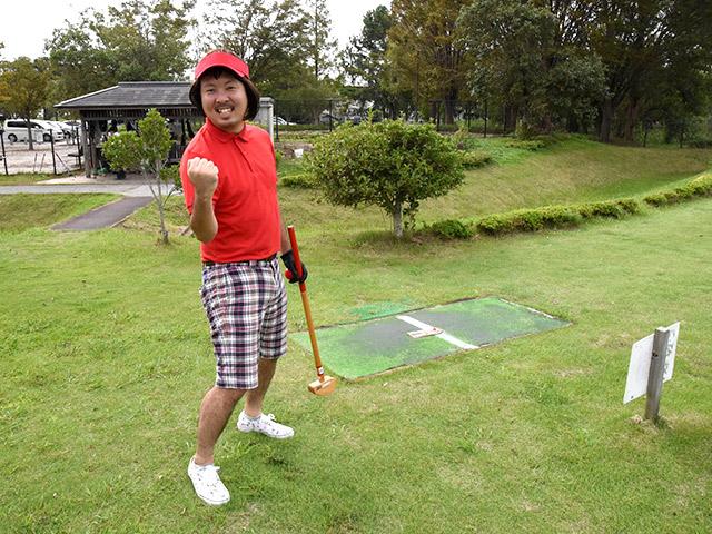 スポーツの森でグラウンドゴルフを楽しむ