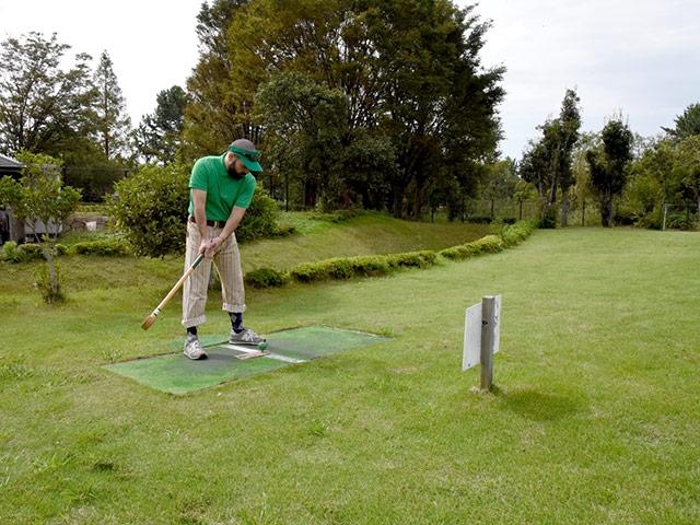 初めてのグラウンドゴルフに挑戦です