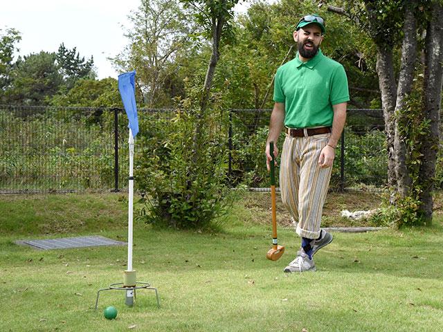 なかなか難しいグラウンドゴルフ悪戦苦闘