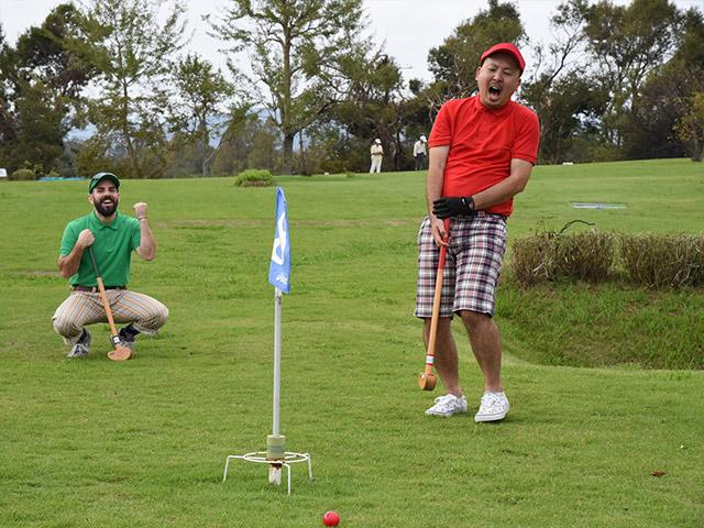 グラウンドゴルフを体験した