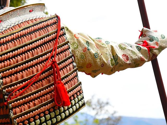 小谷城甲冑武者の会の中川さんよりお借りした甲冑です