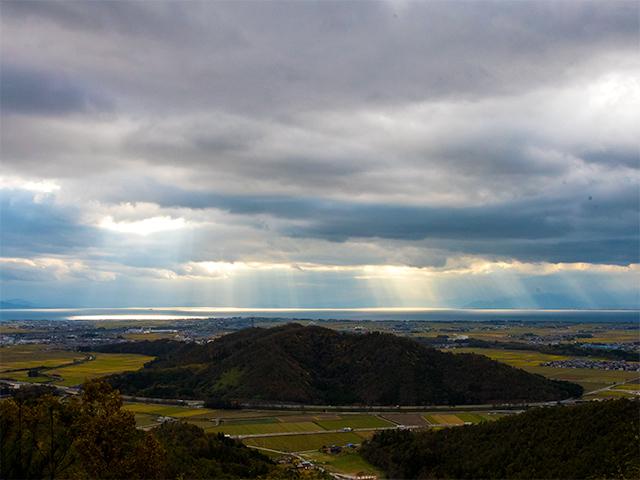 小谷城から見える琵琶湖