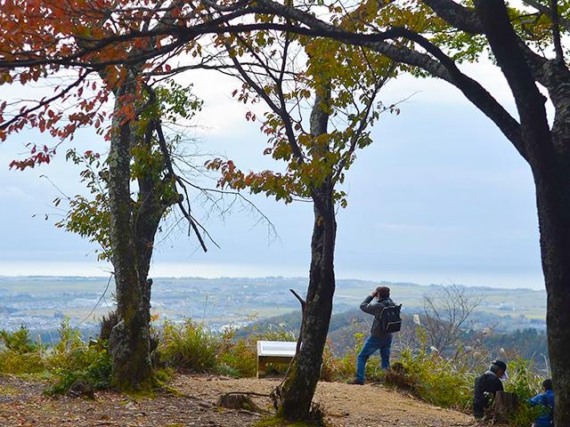 小谷城の桜馬場から見る景色はまさに絶景