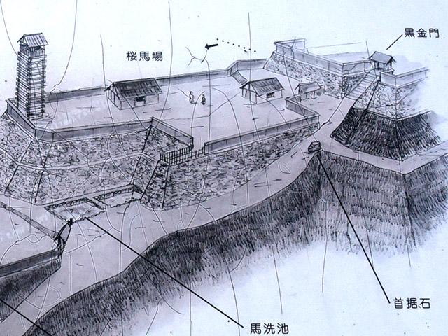 桜馬場の曲輪