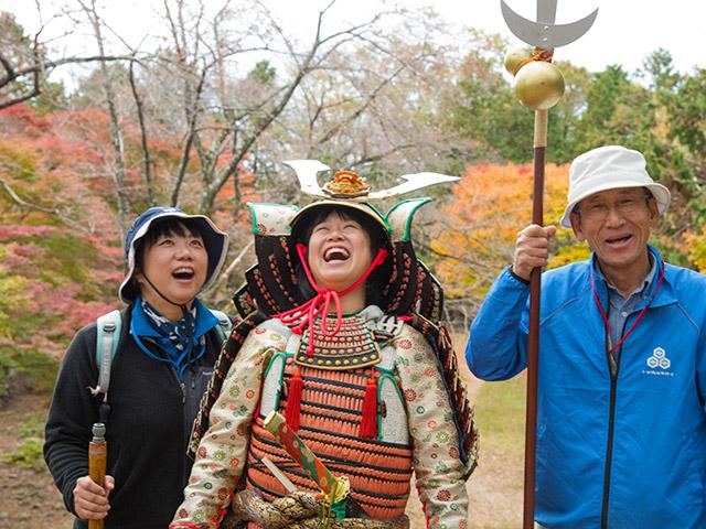 三人で笑顔の写真