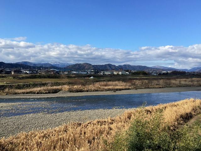 河毛のすぐそばを流れている高時川
